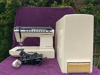 Vintage Retro Singer Auto Electric Sewing Machine Made in West Germany Working
