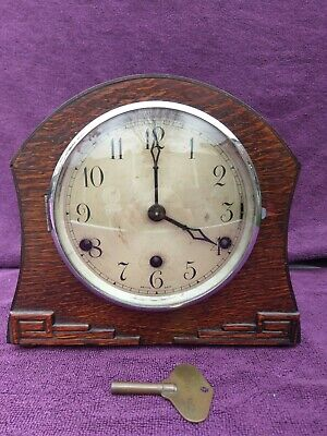 Vintage Antique British Art Deco Westminster Chime Mantel Clock c1937