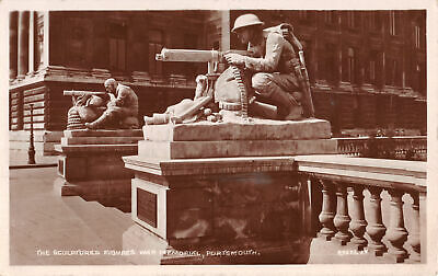 R279113 Portsmouth. The Sculptured Figures War Memorial. Valentine. X. L. Series