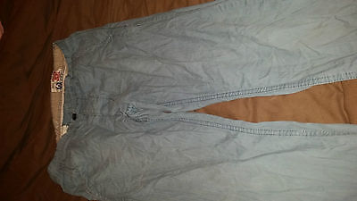 Mens Teenager Boys Next Chino Jeans Trousers Size Slim 30L Light Blue