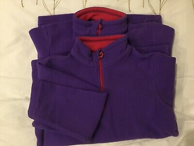2 X Decathlon Girls Fleece Jumper Age 6 Purple