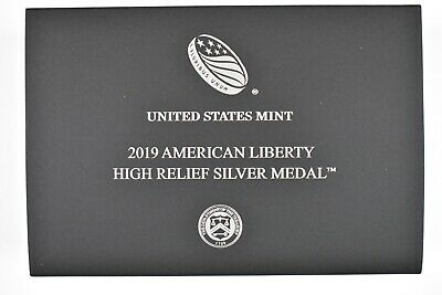2019-P American Liberty High Relief Silver Medal, 99.9 Silver