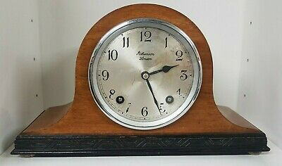J W Benson Chiming Mantel Clock, Napoleon Hat Style