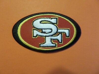 San Francisco 49Ers* Red & White Embroidered Iron On Patches  2-1/4 X 3-1/2