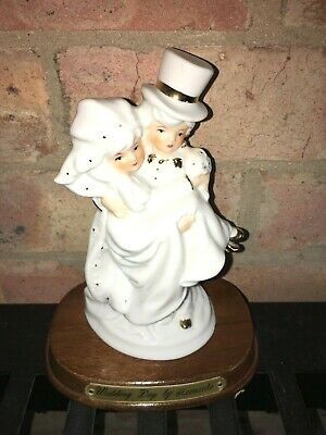 Wedding Day Figurine by Leonardo Collection Ornament Fine Porcelain on Wood Base