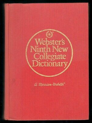 Merriam Webster's 1987 Ninth New Collegiate Dictionary HC Tabbed / Thumb Indexed