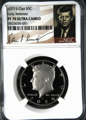 2020-S NGC PF70 KENNEDY HALF DOLLAR 50c CLAD PROOF EARLY RELEASES PF70 Signature