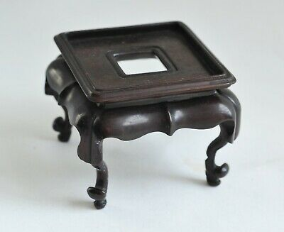 Vintage/Antique Chinese Small Carved Square Wooden Ornament/Vase/Pot Stand