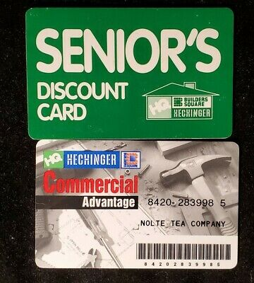 Hechinger Commercial Axvantage charge card & Sr discount♡Free Shipping♡cc1021♡