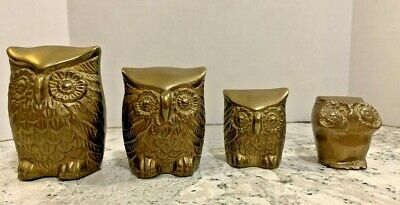 Solid Brass Owls 3 By Leonard Silver Co Korea 1 Other From Greece