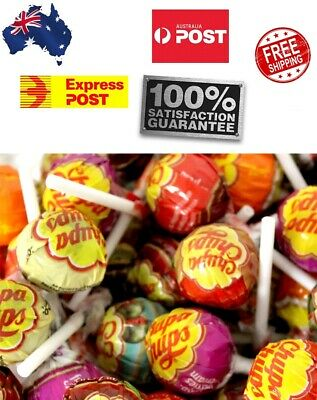 30 x Best Chupa Chups Lollipops Assorted Flavour Bulk Lollies