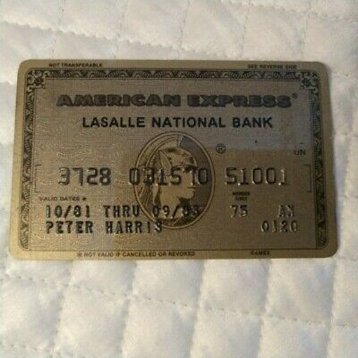 American Express Gold Credit Card exp 1983  LaSalle National Bank Free Shipping