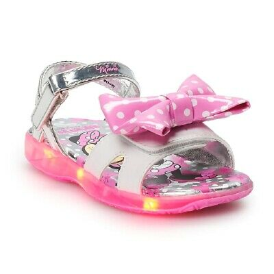 NEW Disney Minnie Mouse Toddler Girl's Light Up Sandal, size: 6 7 8 9