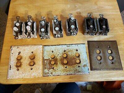 Antique Round Push Button Light Switches and plates