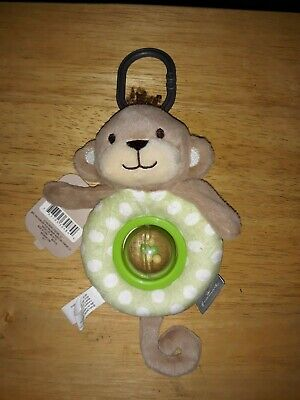 New Hallmark Interactive Monkey Stroller Toy Spins And Rattles tags attached