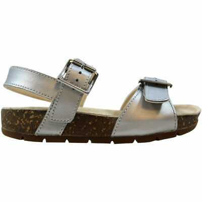 Clarks Volkinicon INF Silver Leather 26105664 Toddler Size 9C