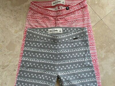 Abercrombie Leggings Lot Girls Youth Geometric Greg Pink Size S