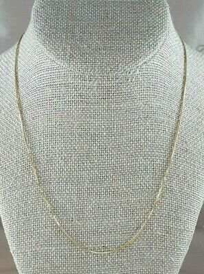 14kt Box Chain NECKLACE Italy 585 EXCELLENT Yellow Gold
