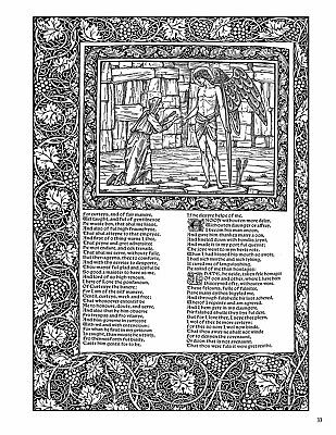 The Kelmscott Chaucer William Morris  Edward Burne-Jones Coloring Book