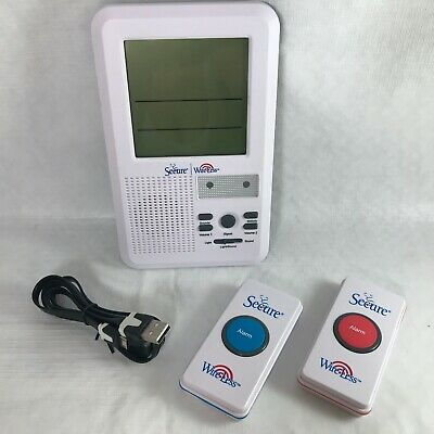Secure Wireless 2 Patient Call Button & Caregiver Pager Nurse Call Alert SWCB-2