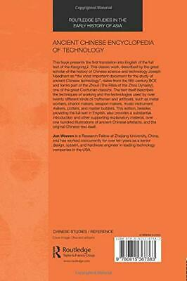 Ancient Chinese Encyclopedia of Technology Routledge Studies in the Early Histo