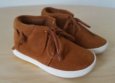 New ZARA Baby Boys / Girls Brown Suede Casual Shoes Boots__UK 3 Infant / EUR 19
