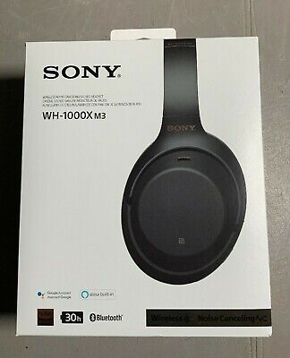 Sony WH-1000XM3 Wireless Noise Canceling Headphones - Black, USED