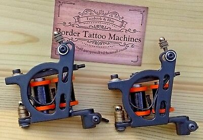 Custom Pair Border Tattoo Machines,Liner & Shader/Packer Iron Frames 32Mm Coils