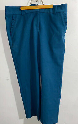 Talbot's Womens Cropped Capris Pants Blue Size 10 Petites