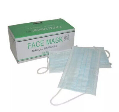 Surgical Flu Virus Face Mask With Earloop Strip  Surgical Medical Quality 3ply