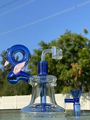 "12"" Hookah Glass Waterpipe Bong W Percolator Water Pipe Two Bowls Assorted Color"