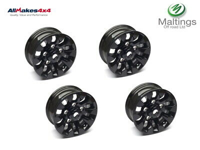 LAND ROVER DEFENDER SAWTOOTH STYLE ALLOYS BLACK 16X7 LR025862 Set of 4