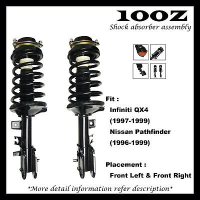 Front Right Quick Complete Strut /& Spring Assembly for 2001 Infiniti QX4 RWD