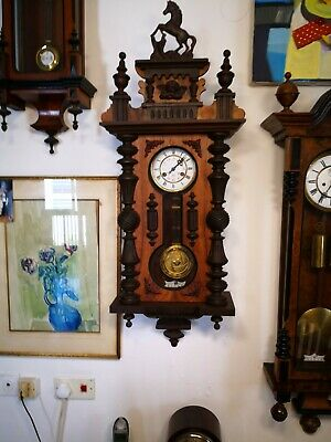 Famously Antique Junghans Keyhole Wall Clock 189O-1900 In Very Good Condition