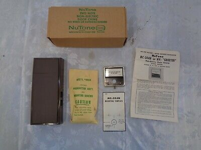 Complete NuTone 2-Note Non-Electric Door Bell Chime Vintage 1950's MC-304 Unused
