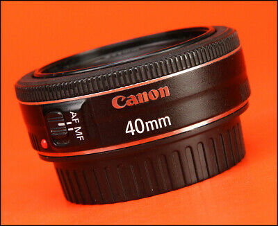 Canon EF 40mm F2.8 STM Pancake Lens -  Sold with Rear Caps