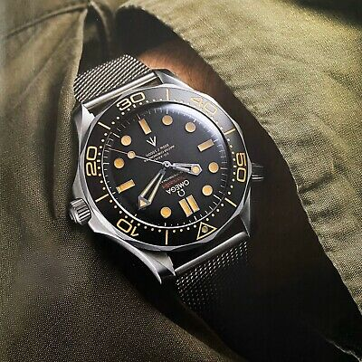 Stainless Steel 'Bond' Mesh Bracelet Watch Strap Band For Omega Seamaster