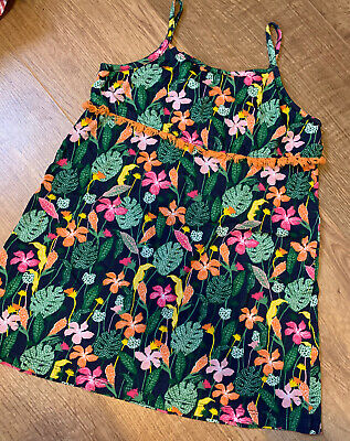 Girls Outfit Tropical Dress - Age 4-5