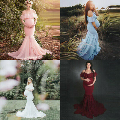 Women Pregnants Sexy Photography Props Short Sleeve Maternity Solid Lace Dress
