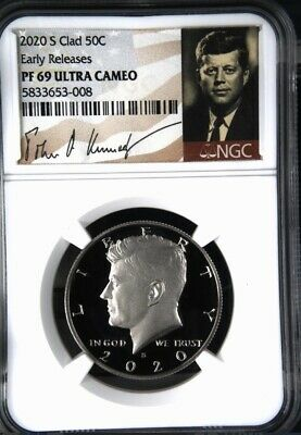 2020-S NGC PF69 KENNEDY HALF DOLLAR 50c CLAD PROOF EARLY RELEASES PF70 Signature