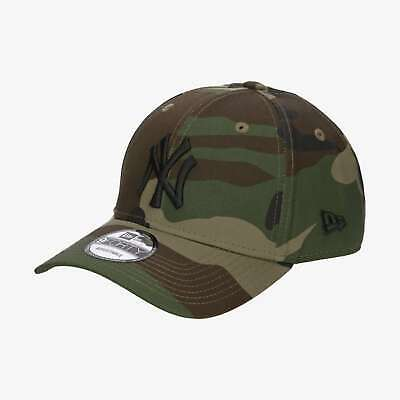 New Era Men's MLB New York Yankees League Essential Woodland Camo 9FORTY Cap