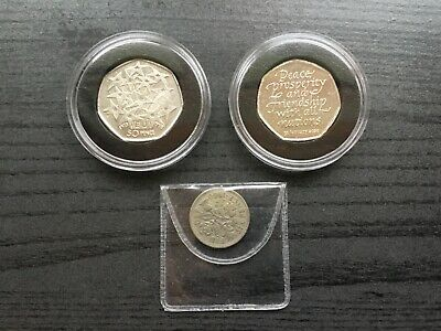 2020 Uncirculated Brexit 50P Coin Plus 1998 Eec 50P Coin Plus Free Sixpence
