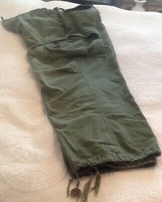 "Men's Vintage US Army Military Pants Cargo Vietnam Era Size 36"" Waist Army Green"