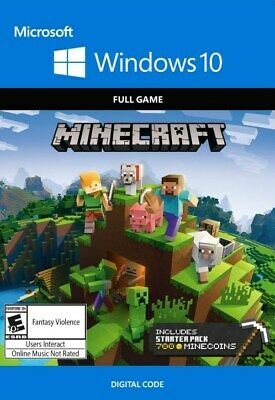 Minecraft: Windows 10 Edition  - FULL PC DOWNLOAD GAME KEY - INSTANT DELIVERY