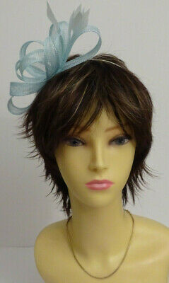 Light blue/duck egg blue fascinator on headband for wedding/mother of the bride