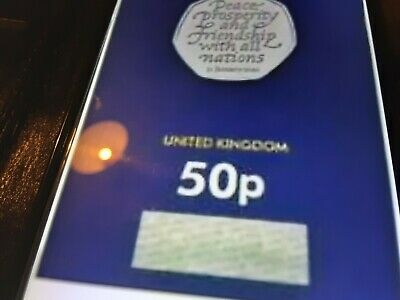 2020 uk withdrawel from eu brexit 50p sealed certified coin IN HAND