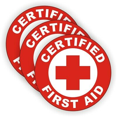 AED Certified Hard Hat Decal Helmet Sticker Safety CPR First Aid Rescue EMT