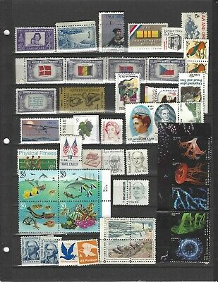 US postage stamps lot,  45 different, mostly mint-$6.71, free shipping