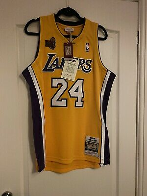 Mitchell And Ness Authentic Lakers Kobe Bryant NBA Basketball Large Mens Jersey