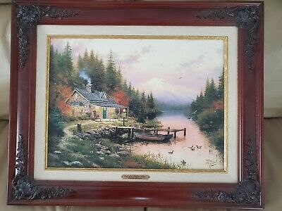 Thomas Kinkade The End of A Perfect Day  Framed Print 16x20